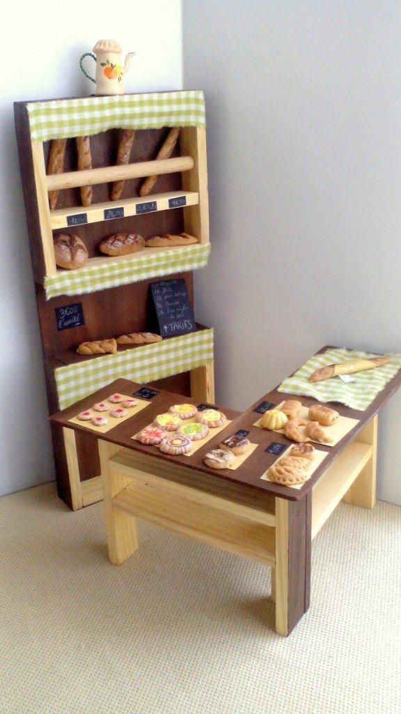 boulangerie patisserie et accessoires fait main pour poupée 1/6 eme