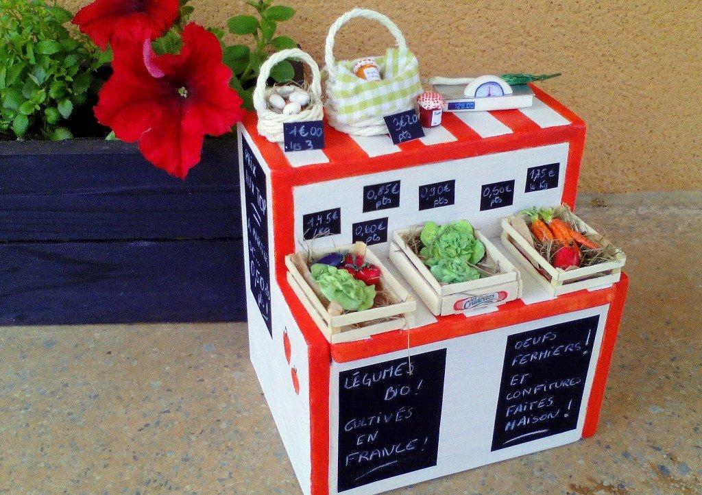 Marché aux légumes (primeur) pour barbie fait main dans Boutique marche-barbie-002-1024x722